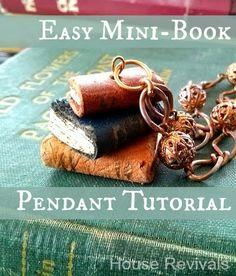 #DIY Mini Book Pendant Necklace #diy_jewelry