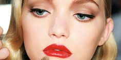 When creating 40s eyes add white liner to the inner bottom lid, this will really make youre eyes pop!