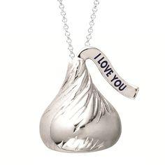 hershey kisses  | ... Hershey's Kiss > Hersheys Sterling Silver I love you Kiss Pendant