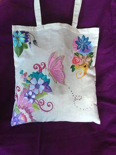 de phonecasesmyladies en Etsy Painted Bags, Hand Painted Canvas, T Shirt Painting, Fabric Painting, Diy Tote Bag, Jute Bags, Denim Bag, Cotton Bag, Cloth Bags