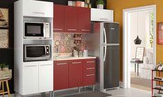 Já pensou em apostar em uma Cozinha Vermelha?! Apesar de ser considerada uma cor inusitada para esse ambiente, pode dar um ar moderno e cheio de personalidade para sua casa.