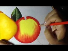 Pintura en tela manzana mantel # 6 con cony - YouTube