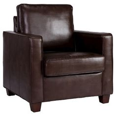 Threshold™ Square Arm Bonded Leather Chair - Espresso
