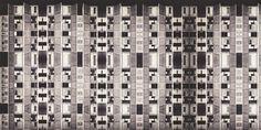 Arquitecturas ficticias 05: Serie arquitecturas ficticias 05 sobre una fotografía de Salk Institute for biological Studies en San Diego, United States de Louis Kahn en el año 1965.