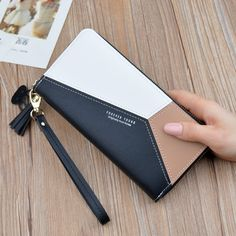 QIUUE Holder Bag Long Business Leisure Multi-Functional Large Capacity Coin Purse Card Holder Bag Clutch Purse Holder Bag