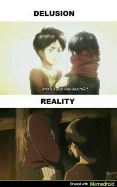 Attack on Titan funny - Eren and Mikasa