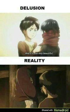 Attack on Titan funny - Eren and Mikasa