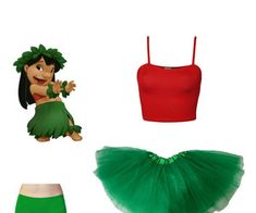 Diy lilo discovered by V on We Heart It Diy Lilo Costume, Stitch Halloween Costume, Easy Disney Costumes, Diy Halloween Costumes For Women, Halloween Outfits, Lelo And Stitch Costumes, Disfraz Lilo Y Stitch, Halloween Kleidung, Fantasias Halloween