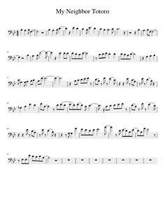 Sheet music made by alexastreeval for Trombone Anime Sheet Music, Cello Sheet Music, Violin Music, Music Sheets, Guitar Chords For Songs, Piano Songs, Ocarina Music, Partition Piano, My Neighbor Totoro