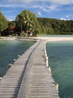 palau island | Jetty, Carp Island Resort, Palau, Micronesia Impressão fotográfica ...