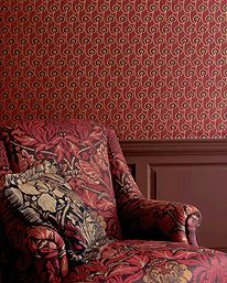 Red House Red/Black från William Morris & Co