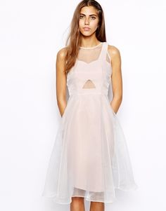 Shop River Island Organza Overlay Dress at ASOS. Lovely Dresses, Beautiful Outfits, Formal Dresses, Party Dresses, Asos Prom, River Island, Robes D'occasion, Mode Editorials, Under Dress