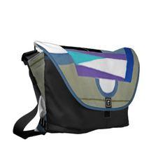 Art Deco Blue Skies Large Bag by Janz Courier Bags