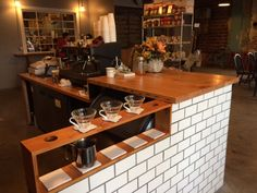 The pour-over station at St. Johns Coffee Roasters