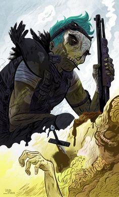 You don't want to cross paths with this guy in the barren wasteland of tomorrow's crumbled empire. Then again, he might be your only hope to survive.  POST-APOCALYPTIC BIKERS:Logan Faerber