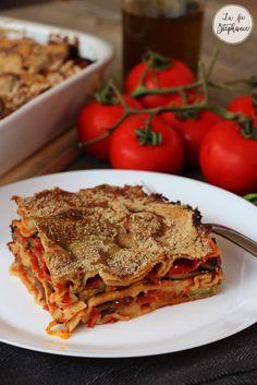 Lasagnes aux légumes d'été, sauce au pesto - un plat vegan pour toute la famille - La Fée Stéphanie Sauce Pesto, Plat Vegan, Lasagna, Gluten, Ethnic Recipes, Recipe, Nice Salad, Lasagne