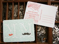 Oh So Beautiful Paper: Margie + Morgen's Queen Mary-Inspired Save the Dates