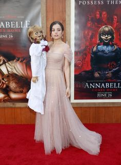 Photo about Katie Sarife at the Los Angeles premiere of `Annabelle Comes Home` held at the Regency Village Theatre in Westwood, USA on June Image of fashion, entertainment, celebrity - 151049255 Batman Joker Wallpaper, Scary Wallpaper, Joker Wallpapers, Horror Movie Posters, Horror Films, Scary Movies, Good Movies, The Conjuring Annabelle, Joker Videos