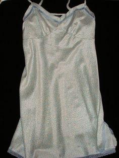 AMBRIELLE Satin Chemise Nightgown Lingerie Adj Straps Lace Sz Large Ret $44 NWT #Ambrielle #Chemise.  Treat yourself!