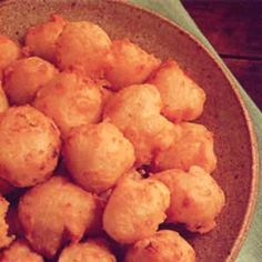 Fat Rascals (Potato Cheese Puffs) Recipe -This is an all-time favorite Saturday night snack at our house. I'd always made potato patties with any leftover mashed potatoes that I had, but when I came across Fat Rascals they sounded like a delicious variation. Now my family deliberately leaves some mashed potatoes in the bowl during dinner just so that I can make this treat the next day!