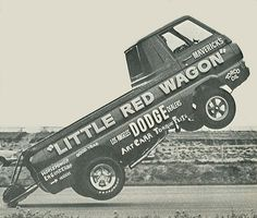 Little Red Wagon off all four tires!!