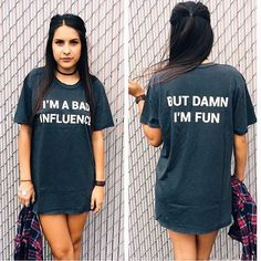 I'm a bad influence, but damn I'm fun.  Tag a friend you're gonna get into some major trouble with this weekend and get this tee on JACVANEK.COM! ✌️⚡️