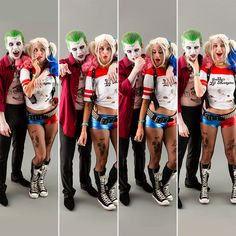 How to Rock Suicide Squads Joker + Harley Quinn As a Couples Costume via Brit + Co