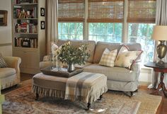 Our Home | New Slipcovered Sofa