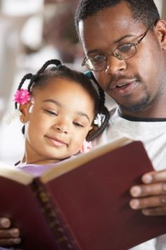 Father reading bible to his daughter - stock photo Woman Reading, Kids Reading, Reading Nook, Reading People, Photographs Of People, Pictures Of People, How To Read People, African American Art, Book Reader