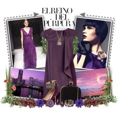 """The power of purple"" by chareznasheer on Polyvore"