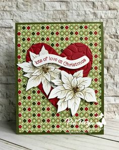 Ramblin' Stamper Christmas Poinsettia, Last Christmas, Before Christmas, Christmas Cards, Christmas Tree, Pack Of Gum, Handmade Thank You Cards, Circle Punch, Little Boxes