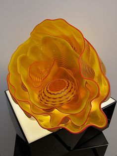 Dale Chihuly. I love blown glass, I've always admired the artistry involved in it.