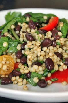 Ever heard of Sorghum? Me either but I tried it!   http://greenlitebites.com/2013/10/09/sorghum-black-bean-salad-with-spinach-and-cilantro