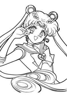 Sailor Moon Was Smiling Beautiful Coloring Pages