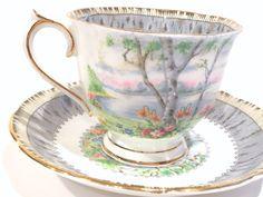 Silver Birch Royal Albert Tea Cup and Saucer