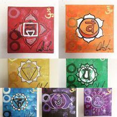 Chakra Set by ArtByMeech on Etsy