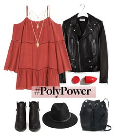 """What's Your Power Outfit?"" by dora04 ❤ liked on Polyvore featuring Yves Saint Laurent, N.Y.L.A., BeckSöndergaard, J.Crew, NARS Cosmetics, Forever 21 and PolyPower"