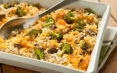 Broccoli, Rice and Cheese Casserole - healthier, Whole Foods version