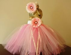 Sparkly Flower Tutu 2 Tone Pink & Matching by GigisFlowerFancy, $25.00