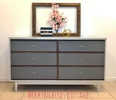 MCM Dresser in Seagull Gray, Driftwood and Java Gel Stain | General Finishes Design Center