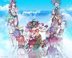 Ruri, RIn, Serena, Yuzu, Yuya, Yuri, Yugo and Yuto