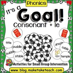 ... for Consonant-le Syllables | Syllable, Card Games and Worksheets