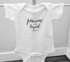 Scripture Onesie 18 month Infant Onesie by TheGivingTreeKids Baby & Toddler Clothing, Cute Baby Clothes, Twin Baby Boys, Cute Onesies, Baby Girl Quotes, Baby Time, Baby Shirts, Funny Babies, Little Babies