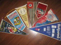sete flamulas anos 50/60 ótimo estado coleção