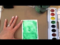 Make It Monday #153 - Watercolored Backgrounds With Heat Embossed Sentim...