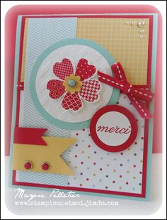 Stampin Up Flower shop & pansy punch card - great colours & layout…