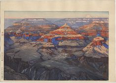 Hiroshi Yoshida woodblock prints of America - This one is the Grand Canyon, 1925 http://www.castlefinearts.com/search_results_detail.php?searchByArtist=35&searchArchives=&pageno=4&pn=&rpp= $6950.00