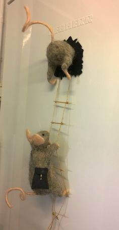 mice needle felted