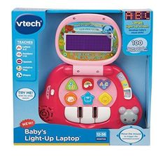 Baby Light Up Laptop Pink Learning Toys Infant