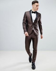 the best attitude d8abb 0d181 Next Skinny Fit Geometric Suit Jacket In Bronze